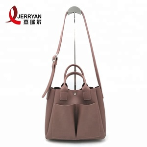 Hot Sell Simple And Generous Style Women Handbag 2 in 1set Tote bags women handbags custom leather bag fashion