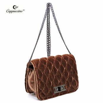 1e9bcd6a8beb86 Wholesale Fashion Quilted Velvet Cute Mini Crossbody Satchel - Buy ...