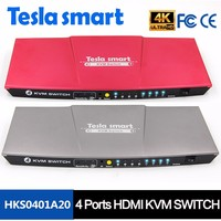 2017 CE FCC 4 Port HDMI KVM Switch With rf Remote support USB 2.0