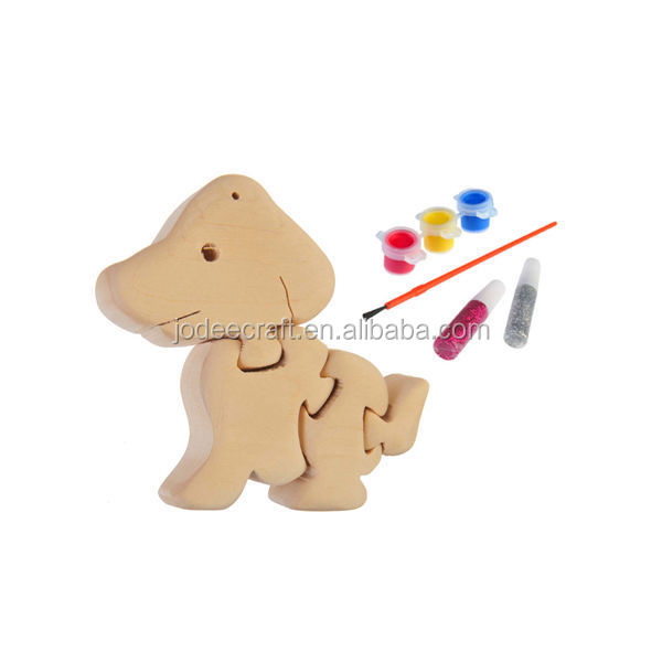 3D wooden craft puzzle dog