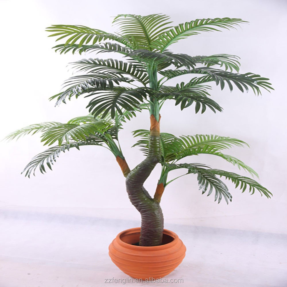 Verde planta artificial artificial de madagascar palm tree room decoracion