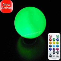 PE RGB color changing remote controlled floating led globe ball light