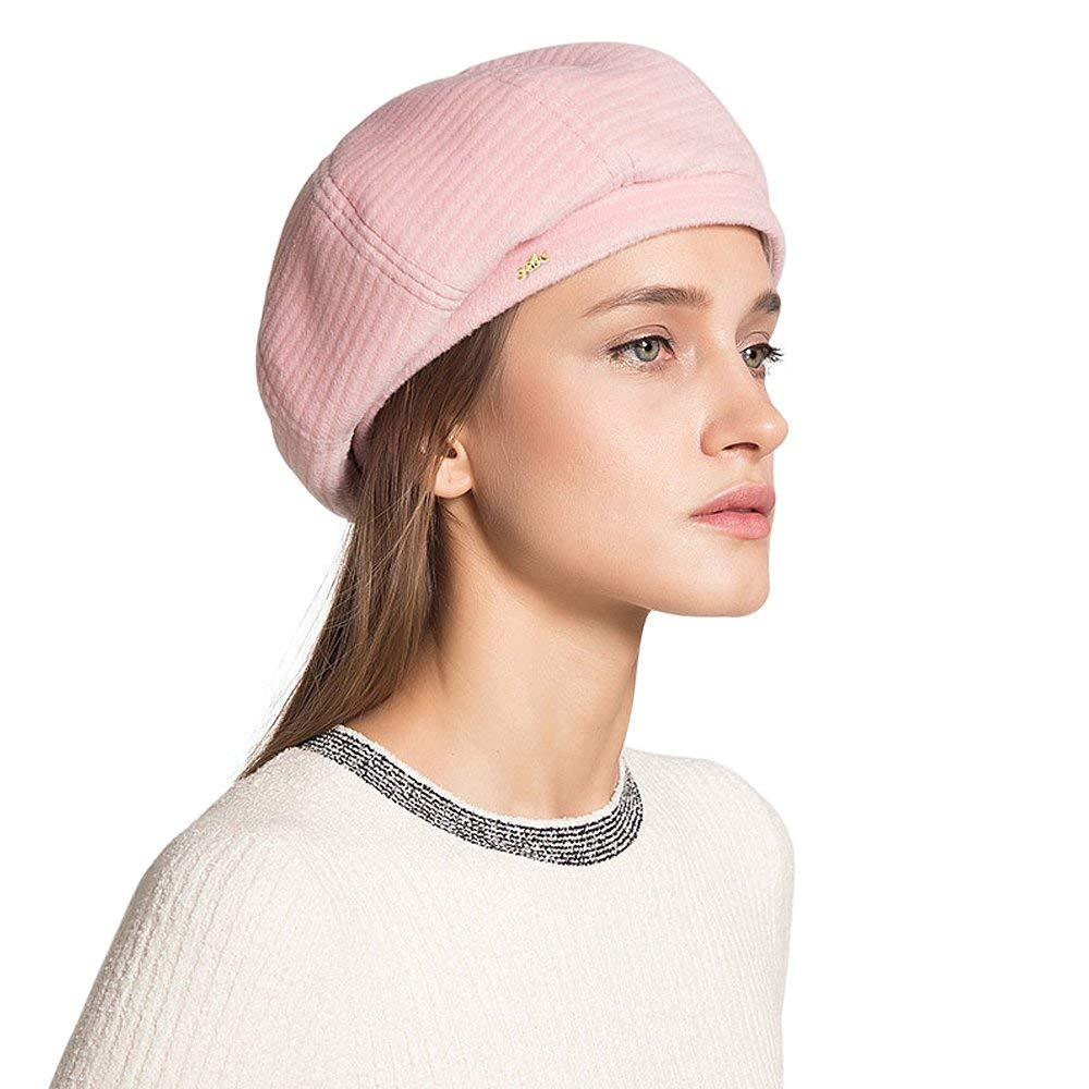 Get Quotations · LAI MENG FIVE CATS Womens Premium French Beret Hat  Spring Autumn Beret Beanie Winter Female eb33b9aac886