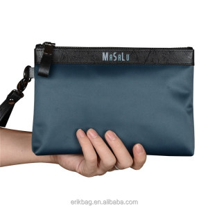 Mens Leather Clutch Bag with PU Decoration
