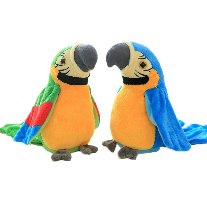 Electric Talking Parrot Toys Speaking Record Repeats Waving Wings Plush Stuffed Cartoon Plush Toys Christmas Newborn Gifts Baby New Varieties Are Introduced One After Another Stuffed Animals & Plush Electronic Plush Toys