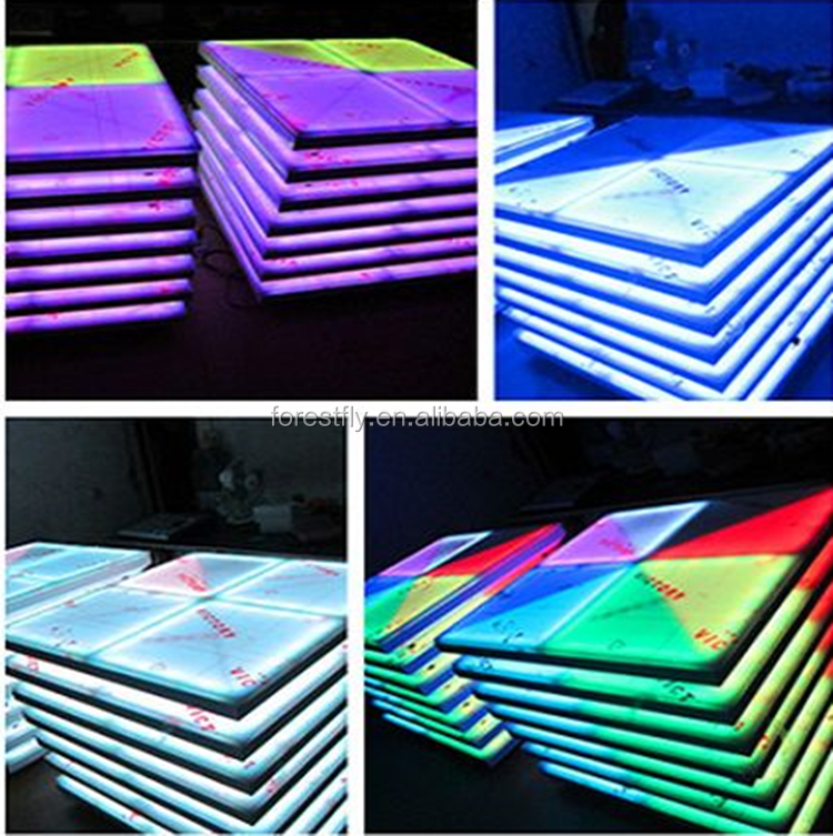 Hot sale 432pcs lights dmx outdoor make interactive led dance floor