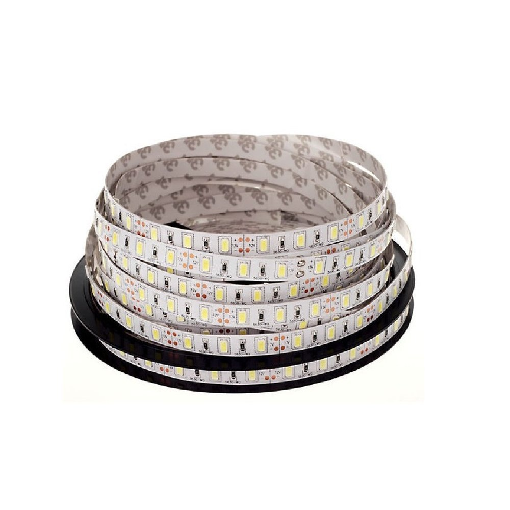 LEDJump Ultra Bright SMD5630 Pure White Dimmable Linkable 300SMD LED Tape Ribbon Flexible Strip Lights 16.4 Ft 12v,3M Adhesive Back, Energy Saving