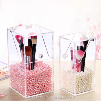 Dust Free Clear Acrylic Makeup Organizer Diy Brushes Holder
