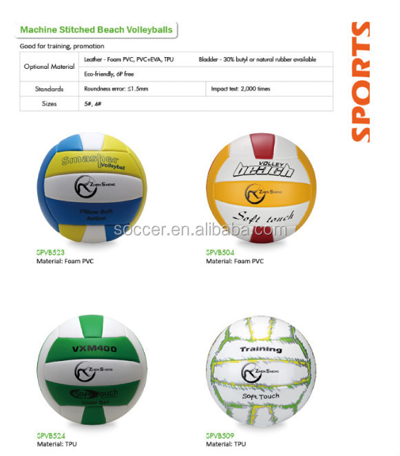 Zhengsheng Beach Volleyball Hand Sewn Standard Size Available ...