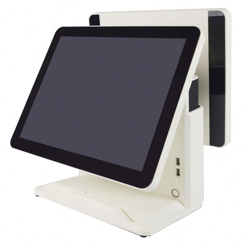 point of sale display stand, pos system dual screen, windows 10 pos terminal