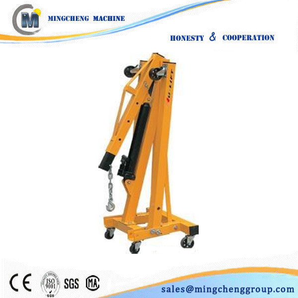 Portable Hydraulic Jib Crane : Engine crane mini portable jib small electric