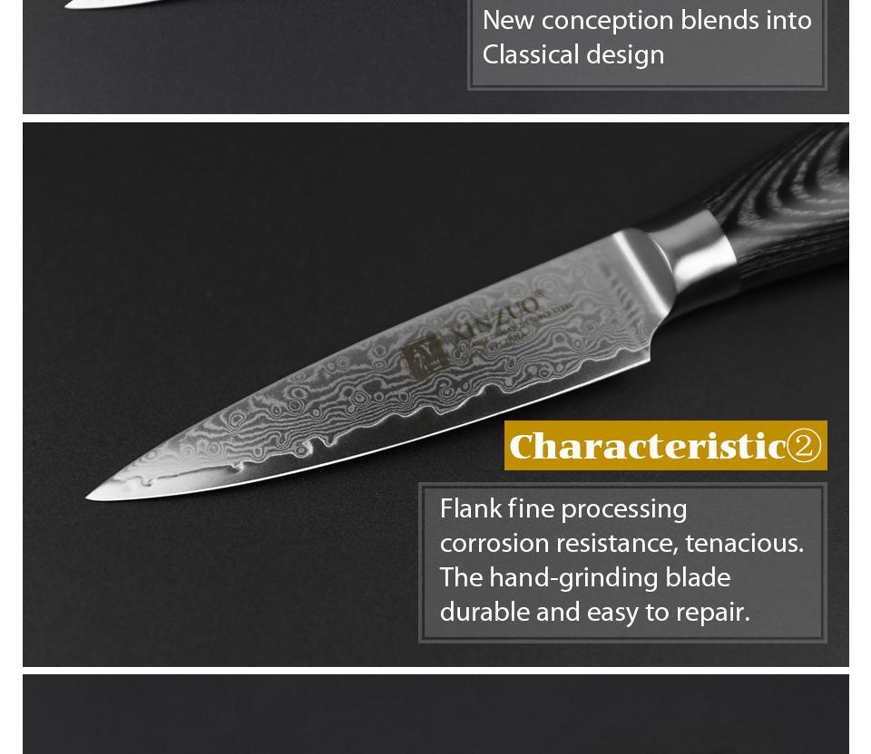 "HTB1a6WsgZLJ8KJjy0Fnq6AFDpXa0 - XINZUO 3.5"" inch Paring Knife 67 layers Japan Damascus Steel Peeling Fruit Knife"
