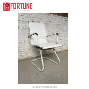 Modern White Leather U Shape Iron Frame Office Meeting Room/waiting Chair  Without Wheels - Buy U Shape Frame Office Chair,Iron Office Chair,Office ...