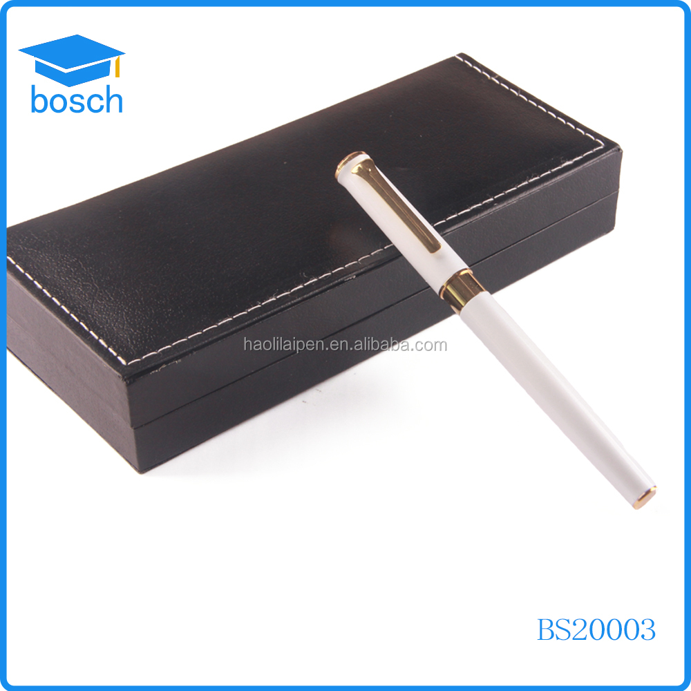 Eco-friendly paper ballpen factory/Primary metal roller pen/ square paper pen for gift