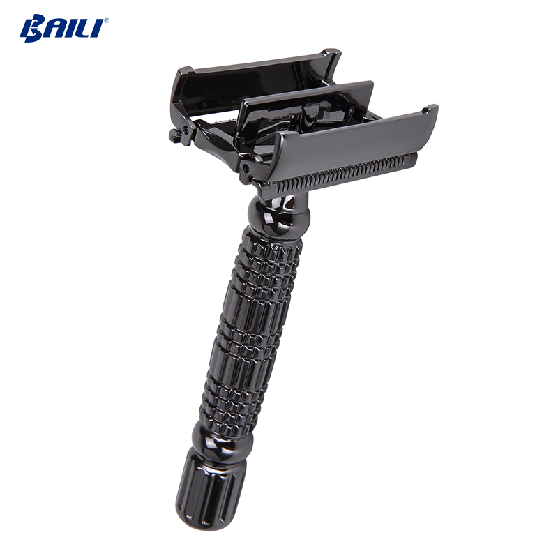 BAILI BD175 wholesale private label razor blades shaving twist butterfly safety razor