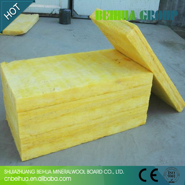 Fire Resistant Rigid Insulation : Fire resistant semi rigid glass wool insulation panel with