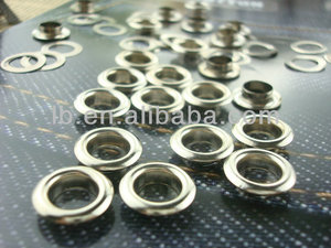 6MM fahion eyelet grommet with washer metal eyelet
