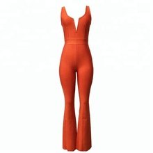 Casual bell-bottom <span class=keywords><strong>mouwloze</strong></span> vrouw bandage <span class=keywords><strong>jumpsuit</strong></span>