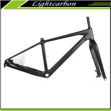 2016 LightCarbon Latest Full carbon Full internal Cable Routing Fat bicycle Snow bike frame LCM613