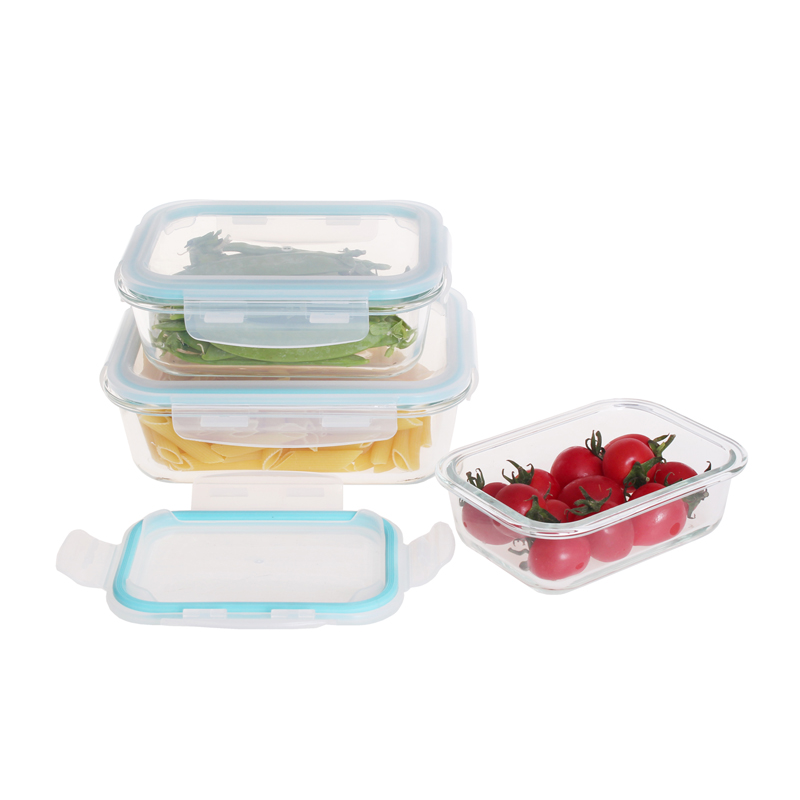 Stapelbaar luchtdicht lunchbox voedsel opslag container glas set