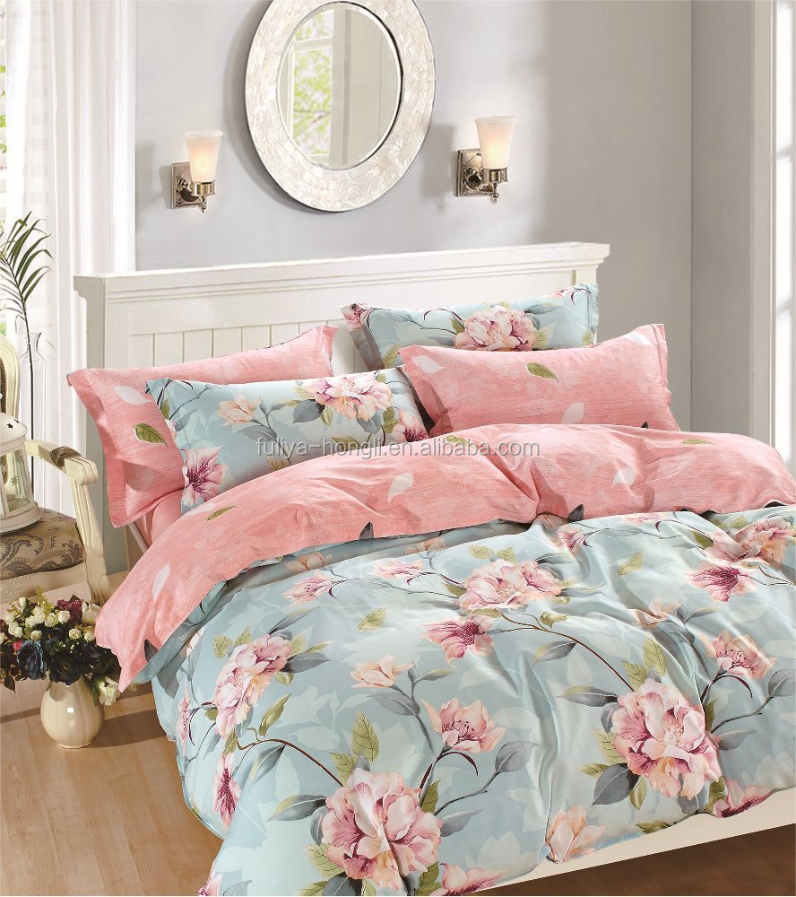 cheap new cotton bedsheet <strong>set</strong> double size in nantong