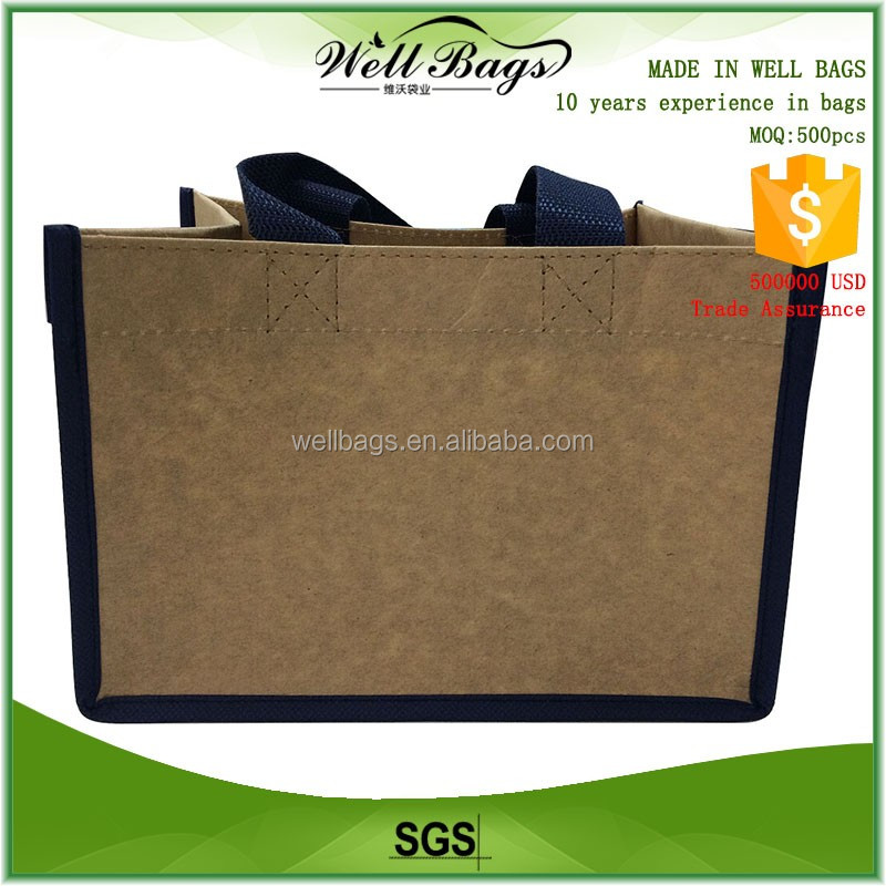 kraft paper non woven fabric straight corner recycling shopping tote bag alibaba trade assurance
