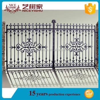 Wrought Iron Main Gate Steel Gate Grill Designsflat Top Italian