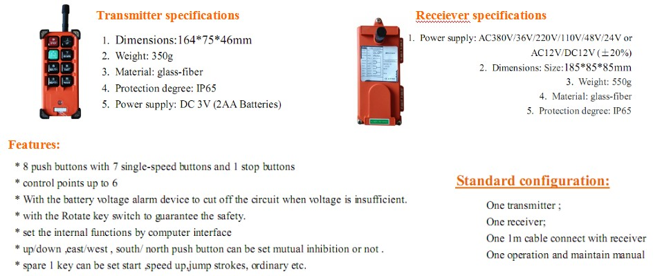 Nucleon Brand Wireless Radio Crane Remote Control from Alibaba Website