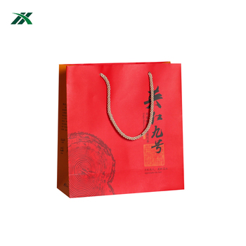 Foldable eco friendly paper bags twisted handle for tea