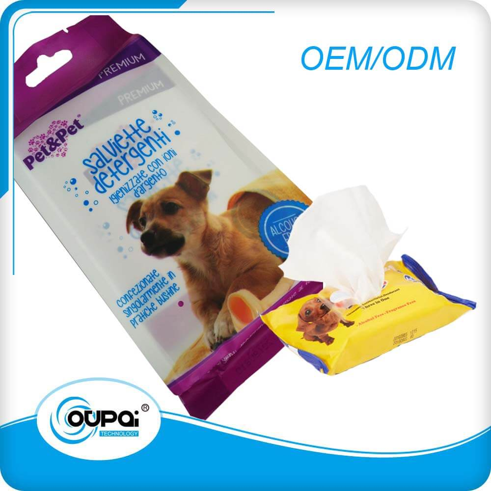 Antibacterial Wipes For Dogs, Dog Cleansing Wipes For Face, Ear, Foot, Tooth