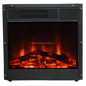Decor Flame 26 Black Electric Fireplace Insert Heater Lowes With Log Set
