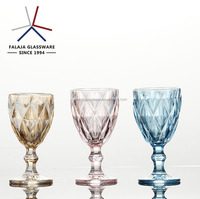wholesale drinkware color customized glass goblet