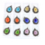 Hot Sale Flat Round Lampwork Focal Blown Glass Flower Bead Necklace Pendants 12pcs/box, MC0035
