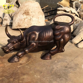 Unique Design Hot Sale Handmade Metal Art Bronze Animal Bull Statues Sculpture