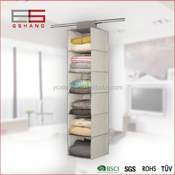 Storage Fabric Hanging Hanger Organizer Closet Organizer Home Containers