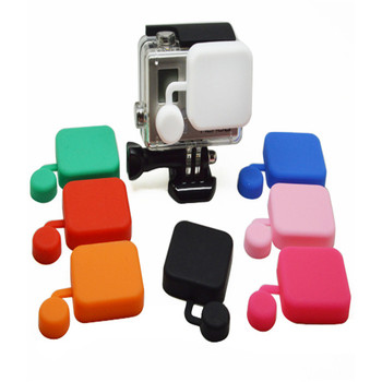 For Go Pro Hero4/3+ Silicone rubber Protective Camera Lens Cap + Housing Case Cover Set