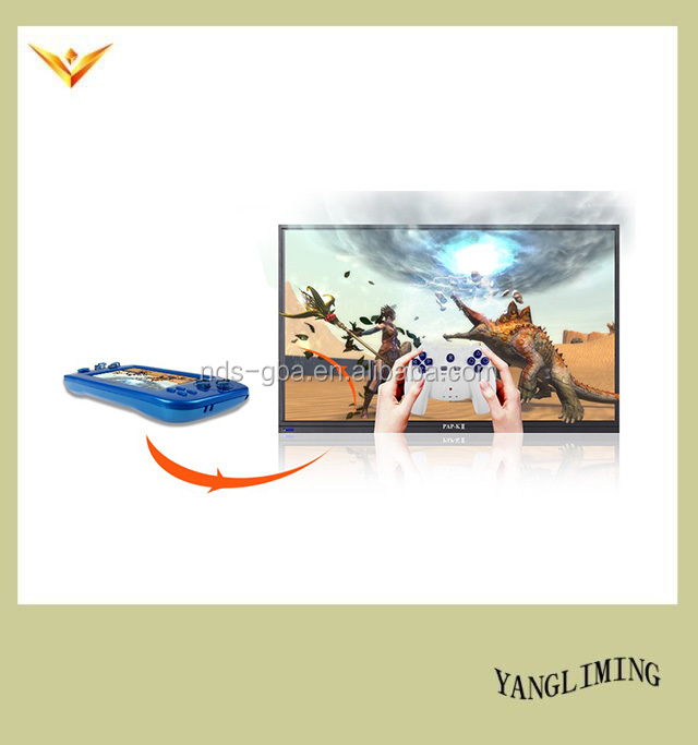 128bit wireless controller game console with 3D game support CP1/ CP2 /PSP games /TV-OUT function PAP-KIII
