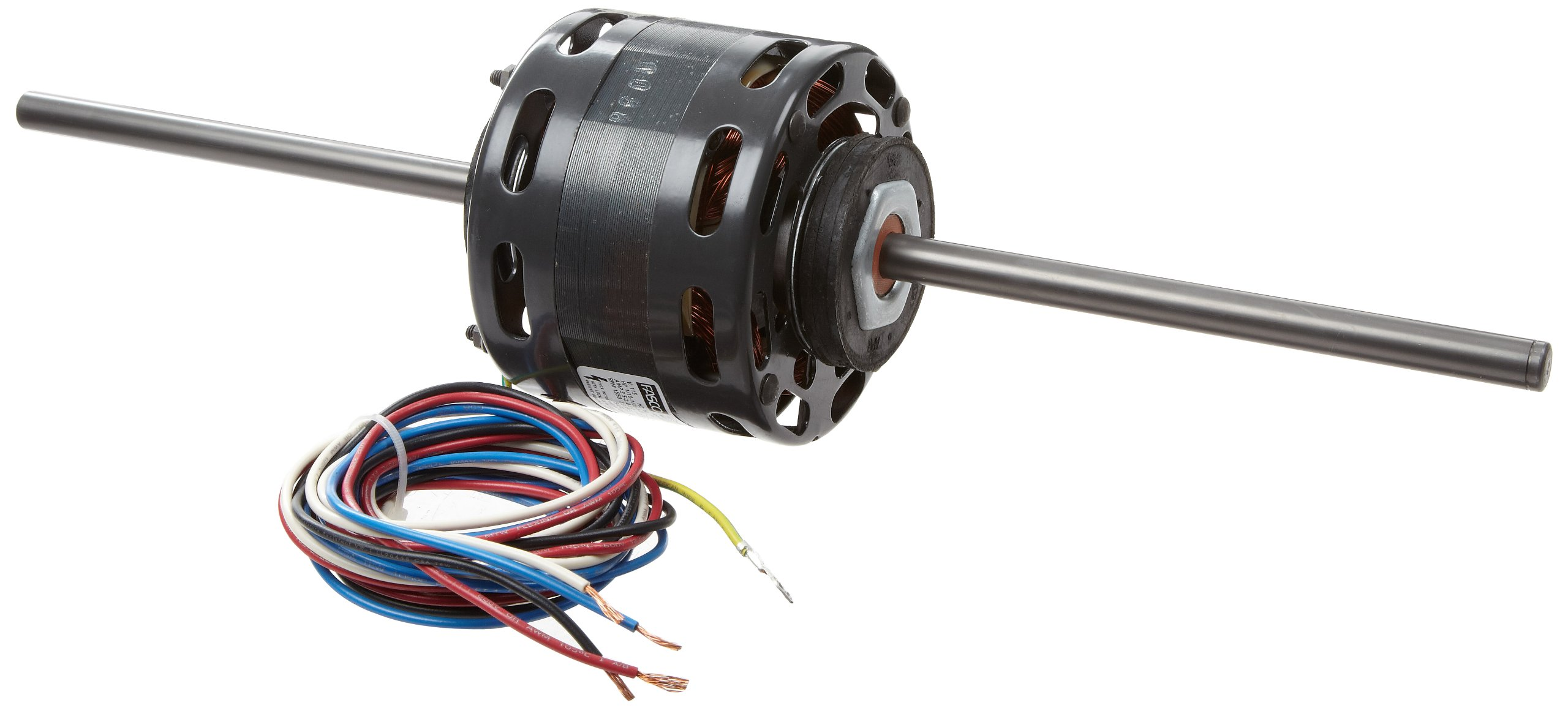 """Fasco D236 4.4"""" Frame Open Ventilation Shaded Pole Fan Coil Air-Conditioning and Heating Unit Motor with Sleeve Bearing, 1/10-1/15-1/25 HP, 1550rpm, 115V, 60Hz, 3.5-2.4-1.8 amps, 3-3/8"""" Motor length"""