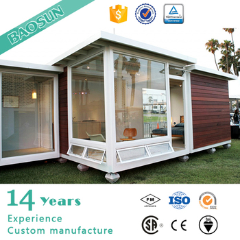 prefabricated glass container house home kit in France 1-floor