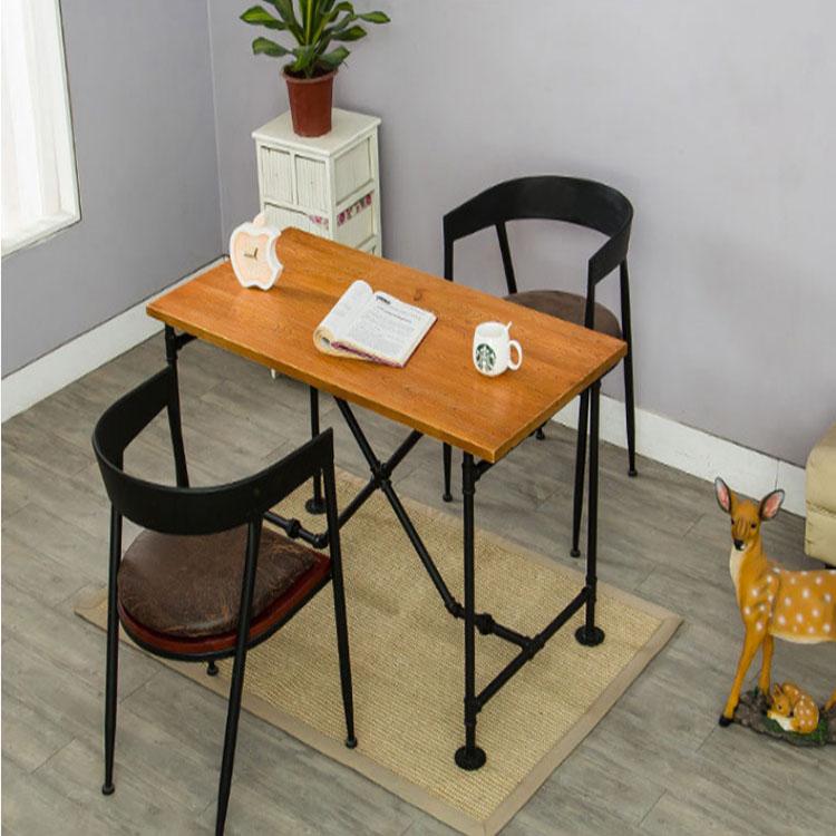 Custom Wind Retro Wrought Iron Wood Pipe Table And Chairs Barron Corner Coffee Single Chair Full Desk
