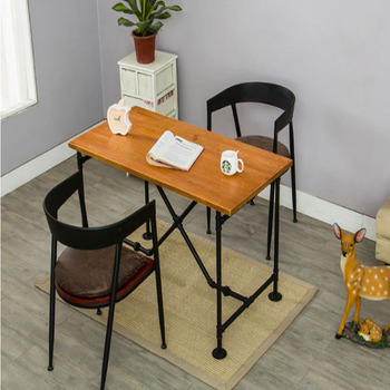 Wrought Iron And Wood Furniture For Custom Industrial Wind Retro Wrought Iron Wood Pipe Table And Chairs Barron Corner Coffee Single Custom Industrial Wind Retro Wrought Iron Wood Pipe Table And Chairs