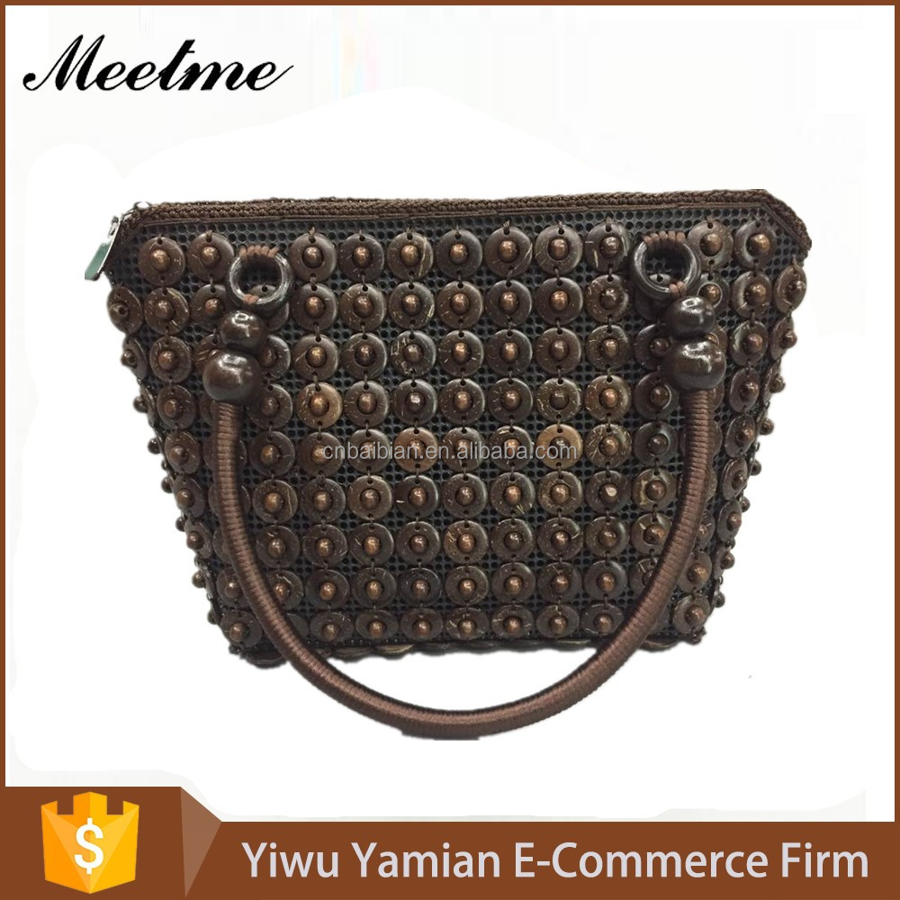 100% hand make coconut shell bag,colorful with different <strong>design</strong>