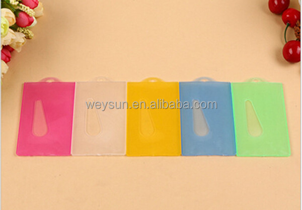 500pcs mulit color Vertical soft Waterproof ID Badge Holders PVC name credit card case certificate plastic card Holder