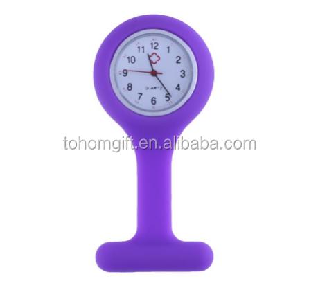 Eco-friendly Custom Logo Quartz Silicone Medical fob Watch brooch Nurse Pin Watch wholesale