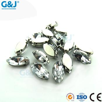 DIY Manufacturer Marquise Shaped crystal claws for Sweater