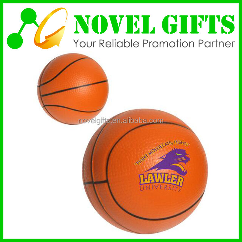 Promotion Gifts Basketball Shape PU Stress Reliever Ball