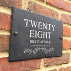 hot sale Home Address Sign plaque / SLATE House Numbers ( Carved Stone ) Marker