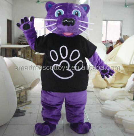 purple panther mascot costumes adult panther costumes