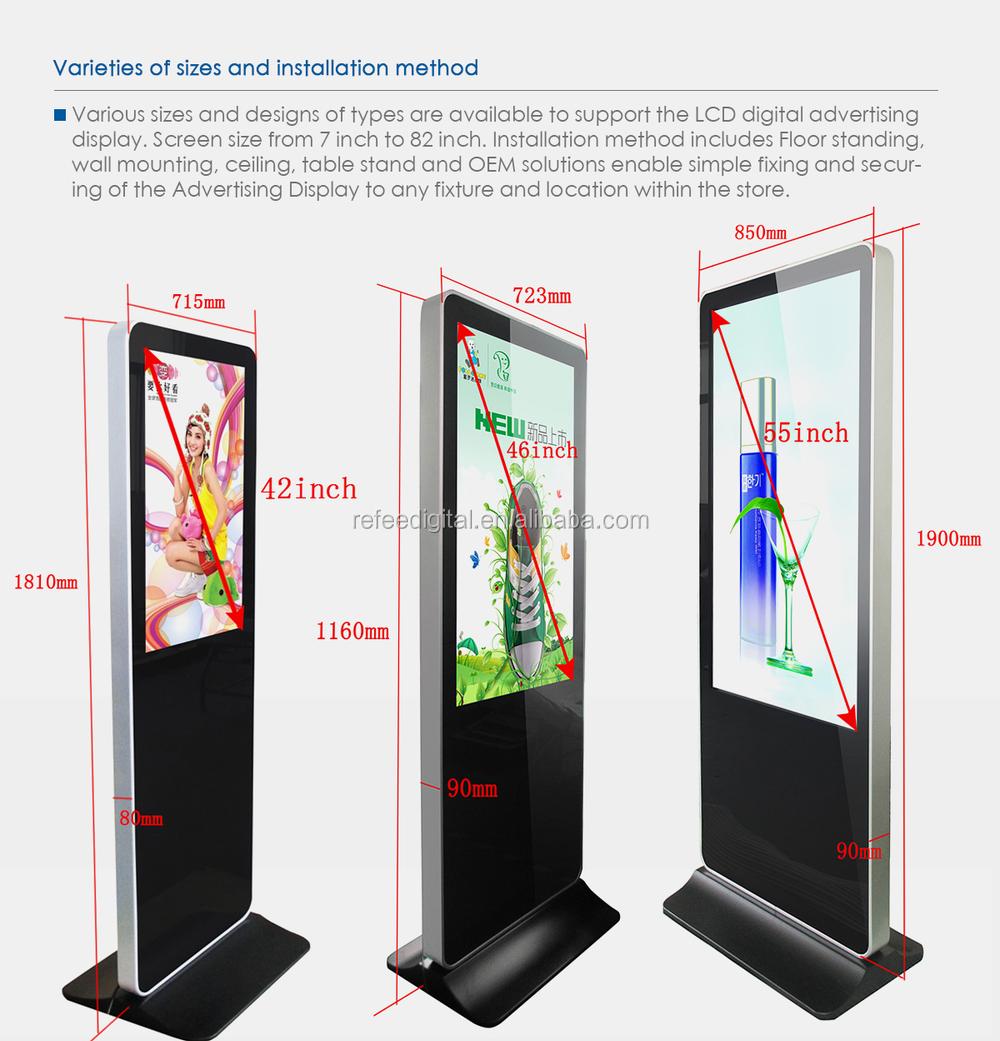 32 65inch Full Hd Lcd Display Panels Ad Display