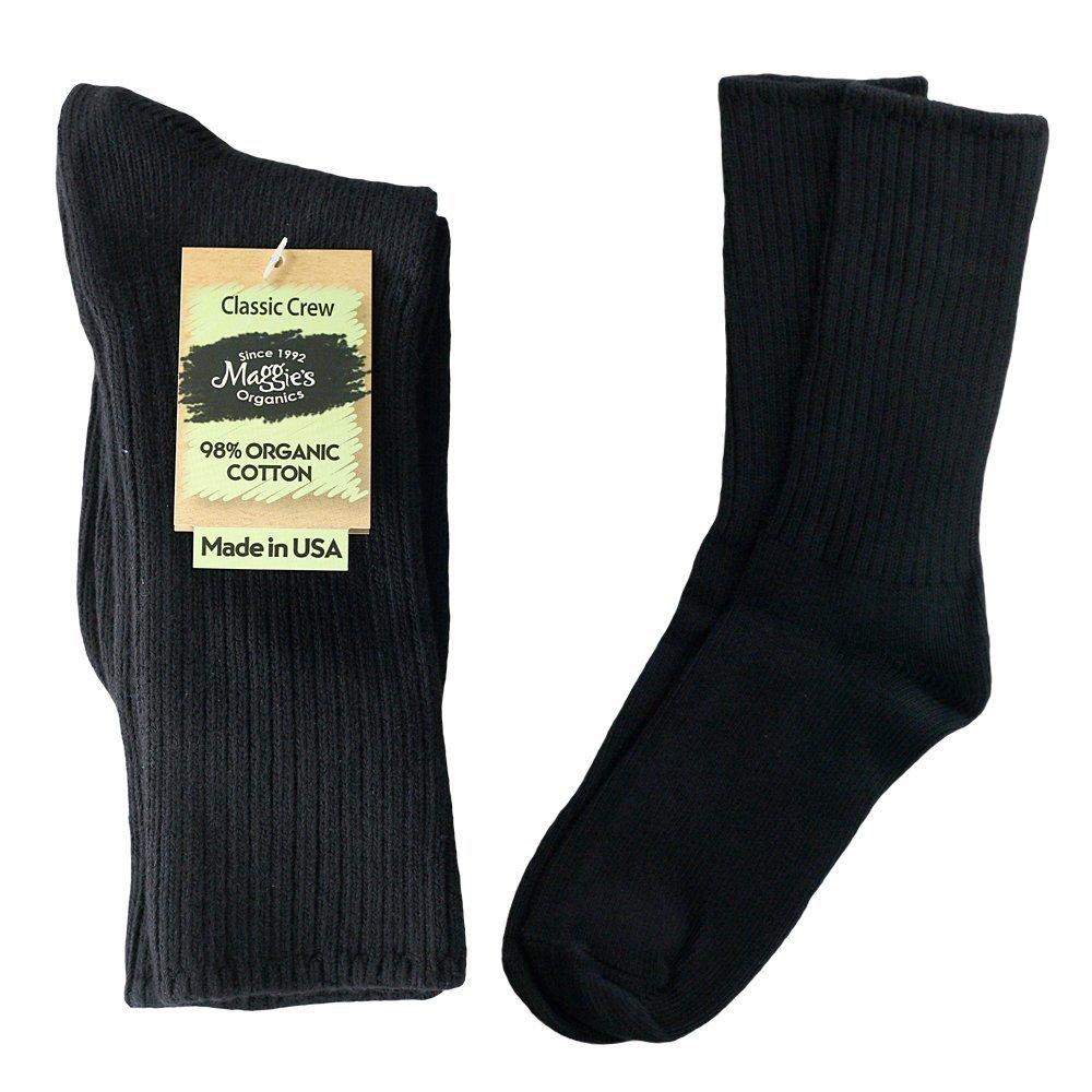 Sock Crew Black 10-13 1 Pair